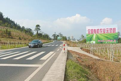 图为国道351线同步规划建设的芦山县现代农业示范园区(摄于11月7日)。