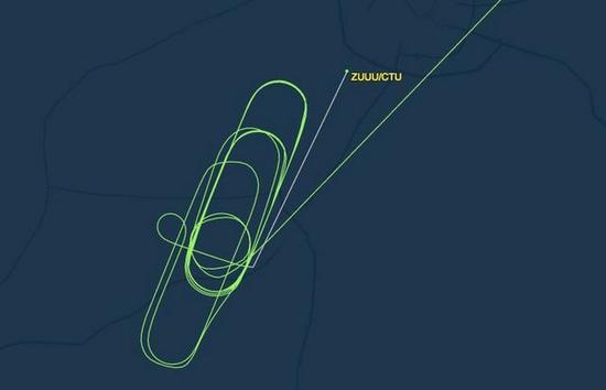 川航莫斯科至成都飞行图