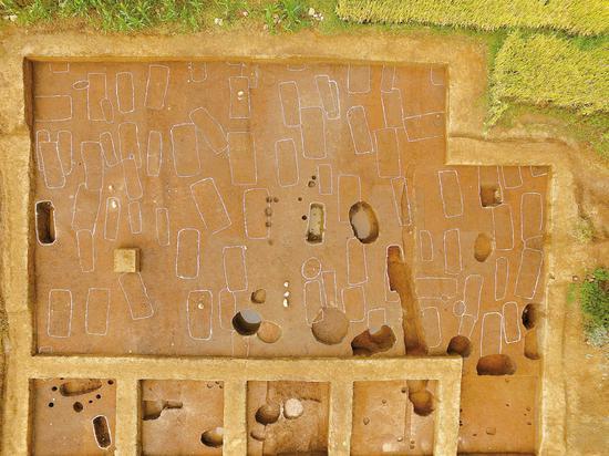 羊耳坡遗址墓地航拍图。