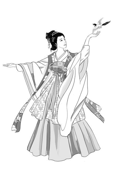 手绘王妃美女图片