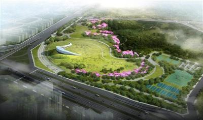 从官方首次公布的效果图看,音乐广场的露天舞台像一枚白色的贝壳,蜿蜒匍匐于绿色的草坪上,极具美感