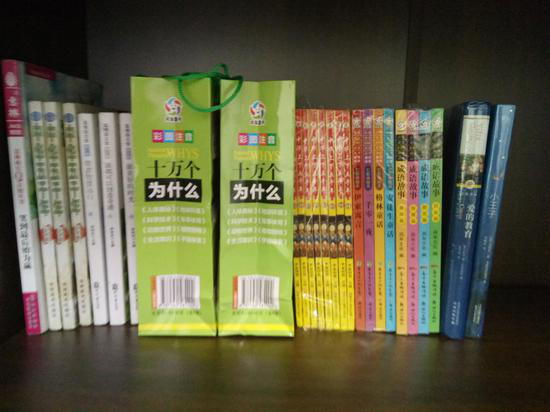 爱心网友捐赠的书籍