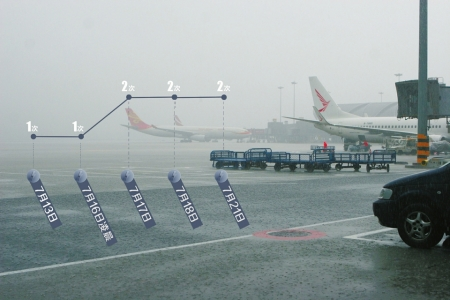 7月21日,双流机场遭遇雷暴袭击,致航班延误。制图李潇雪