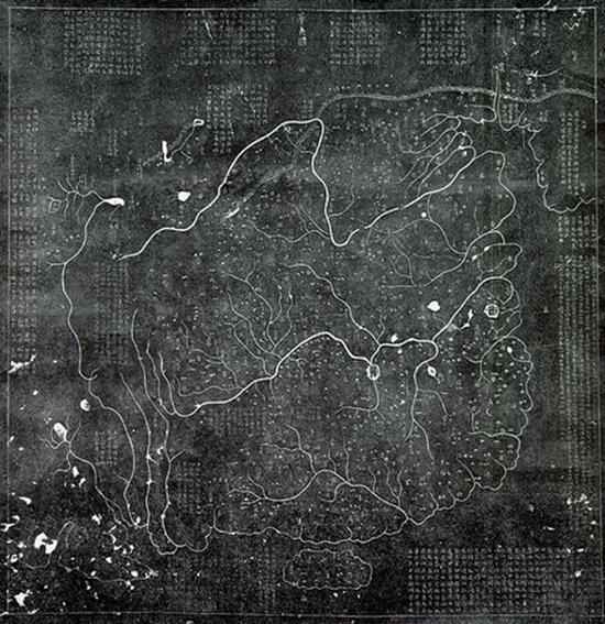 禹迹图是中国最早使用格网的地图,它雕刻于公元1136年,现藏于西安