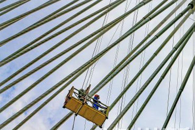 泸州沱江六桥建设本月底或完成桥面浇筑式沥青铺设