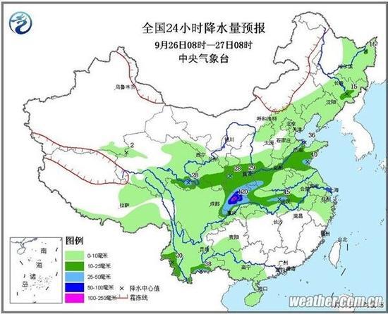 今日到10月5日 四川大部地方都是雨