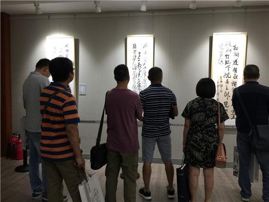 """""""巴蜀书画传承与创新工程——冷柏青书法作品展""""现场"""