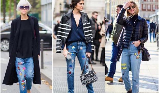 基本款也能很时髦 你看街拍达人穿牛仔裤