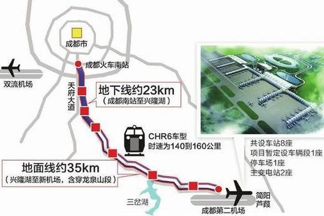 成都地铁18号线运行时速 最高可达140公里