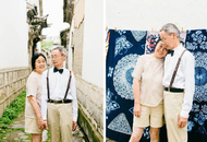 成都老夫妻拍秀恩爱艺术照