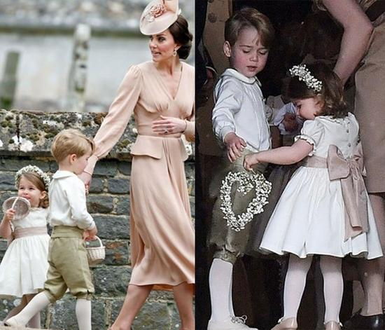乔治小王子和夏洛特公主将在婚礼中担当?#35009;?#35282;色