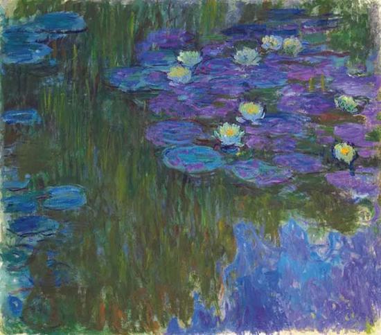 莫奈,《绽放的睡莲》,约1914-1917年,成交价格:84,687,500美元