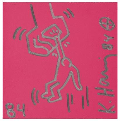 拍品编号:138,凯斯·哈林 (Keith Harring) 无题(被垂吊的男子), 1984年作拍品编号:138,凯斯·哈林 (Keith Harring) 无题(被垂吊的男子), 1984年作