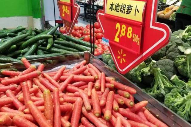 天气回暖蔬菜大量上市 达城菜价一路回落
