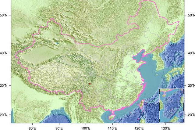 3月29日12时8分四川甘孜州道孚县发生2.6级地震