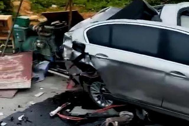 贵州仁怀一宝马发生单方交通事故 车上6人全部死亡