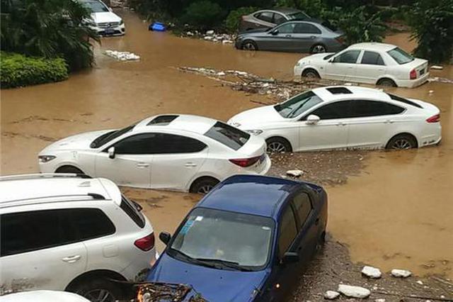 乐山一夜暴雨最大雨量超300毫米 降雨将持续至13时