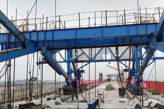 川南城际铁路内自泸线最长大桥合龙