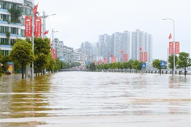 四川强降雨持续 部分江河水位仍超保超警