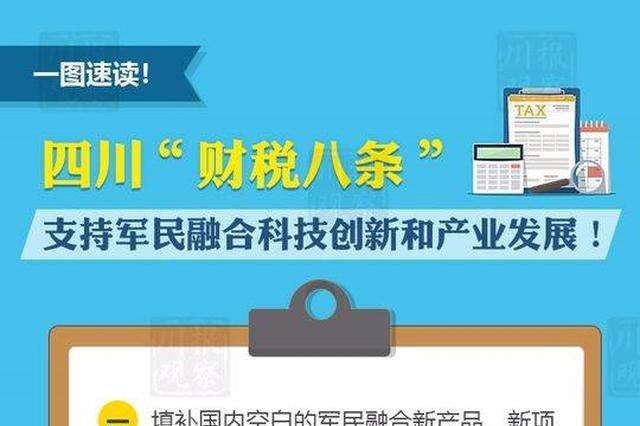 干货!四川出台支持军民融合科技创新和产业发展财税八条