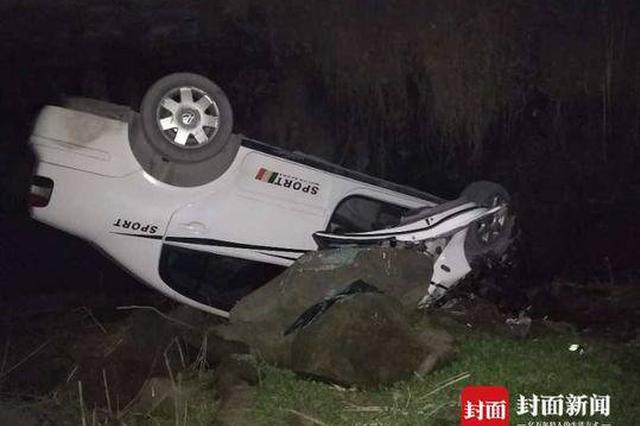 四川男子车辆行驶中抓狗 所幸汽车坠崖前逃出驾驶室