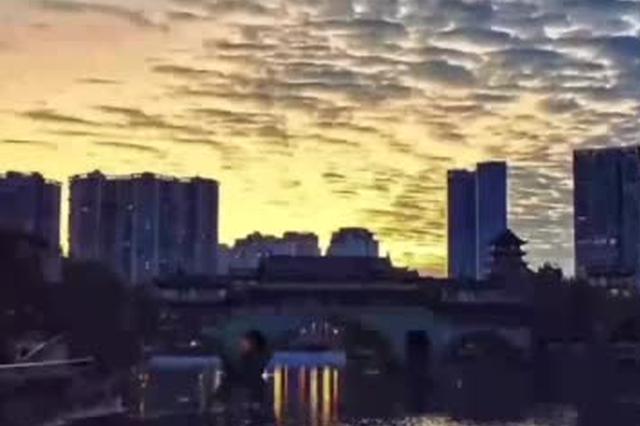 视频丨别错过!清晨成都的绚丽朝霞 这里有原图
