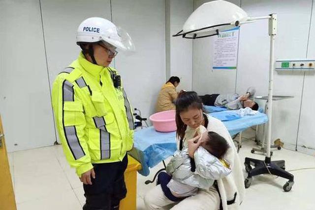 什邡一婴儿高烧抽搐 警车暖心开道20余公里及时送医
