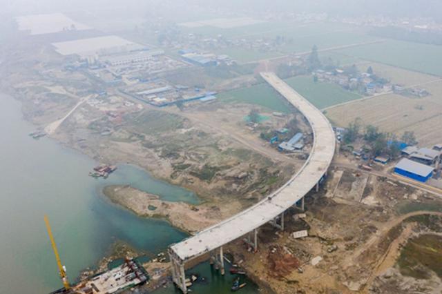 遂宁红江渡改桥预计今年5月主体完工