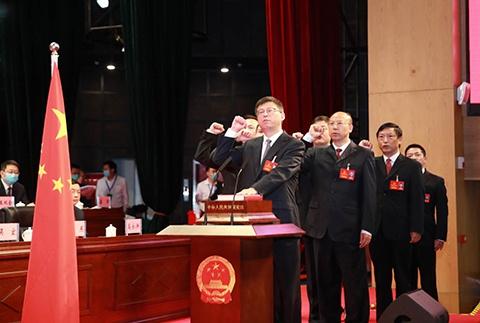 宪法宣誓 张毅/摄