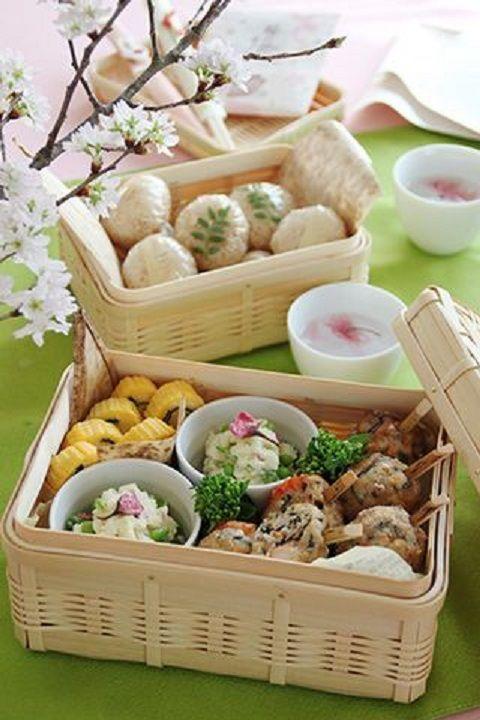 日式野餐篮 图片来源自Pinterest@Eva Bravo