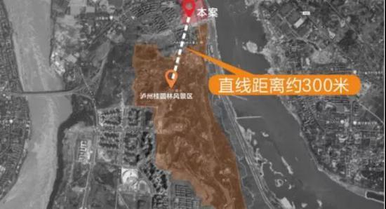 项目距离桂圆林公园直线距离约300米(数据来源:网络)