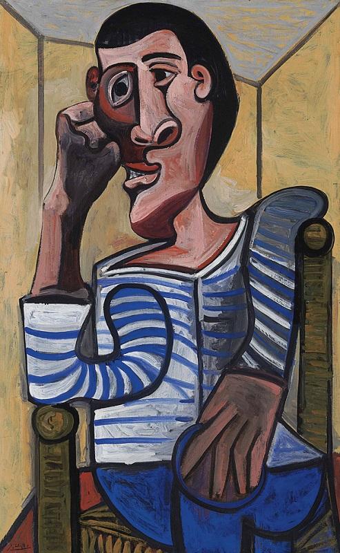 毕加索 ,《水手》,1943年,临时撤怕