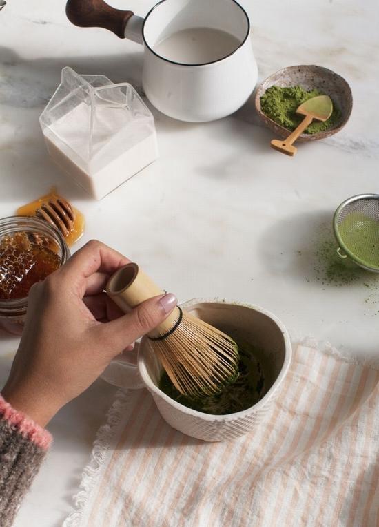 抹茶奶茶 图片来源自acozykitchen
