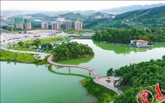 莲花湖公园成为达城又一名片