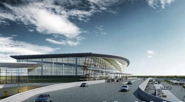 云龙机场航站楼全面进入内部装修