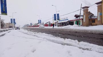 四川红原普降中到大雪