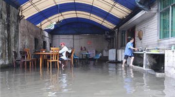 成都蛟龙港双流园区部分工厂被水淹