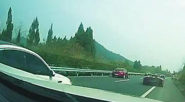 南充无牌兰博基尼高速上狂飙被拦下