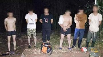 重庆6名男子合江电鱼被逮个正着