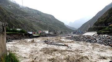 汶川发生山洪泥石流灾害 现场直击