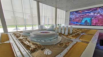 凤凰山体育中心八月航拍亮相