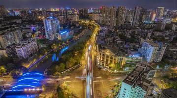 成都锦里中路跨线桥实施拆除