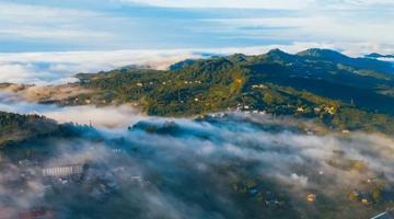 龙泉山晨景惊艳了