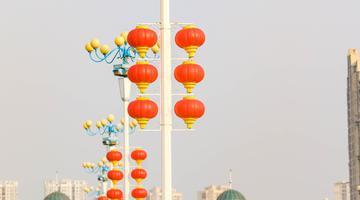 大红灯笼高高挂 喜气洋洋迎新春