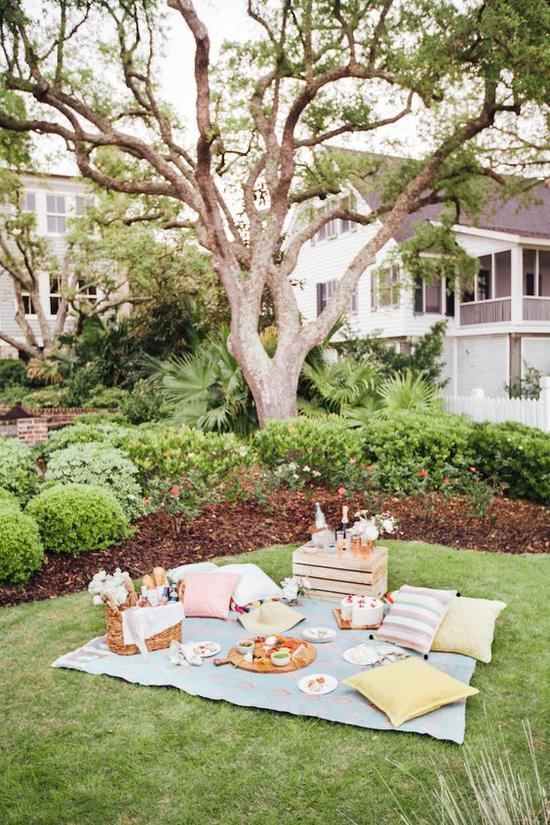 野餐 图片来源自Pinterest@Camille Styles