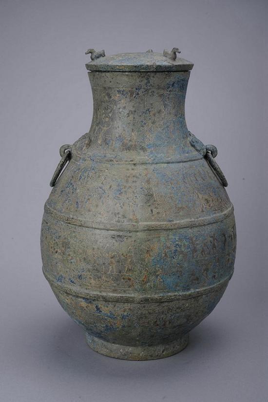 战国水陆攻战纹铜壶(现藏于四川博物院)
