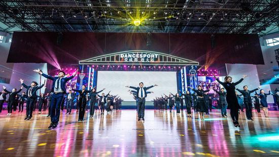 首届成渝双城经济圈体育舞蹈公开赛成都开幕