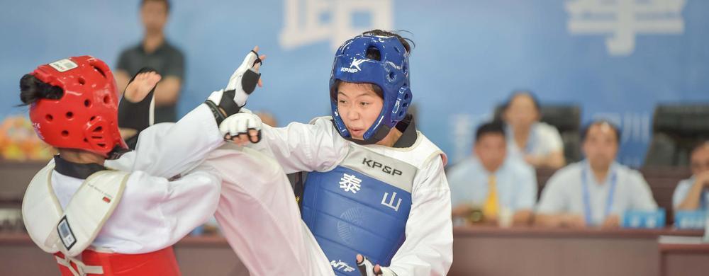 成都代表队终于拿下跆拳道首枚金牌