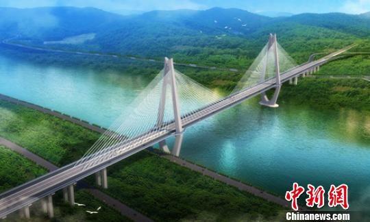 宜宾临港公铁两用长江大桥效果图。 中铁二院 摄