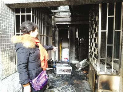 火灾发生后的现场,很多东西被烧毁